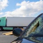 smashed window on passenger side